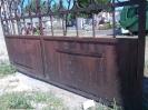 Temető kapu felújítás
